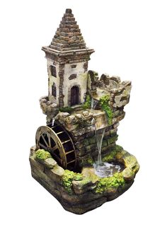 """35"""" Tiered Castle Fountain from Alpine"""