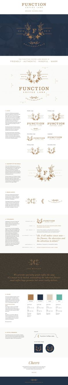 Function Coffee Labs - logo design & brand guidelines - Melissa Yeager: