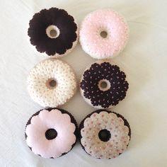 Tea Party Felt Food Donuts-Pretend Play by birdtoast on Etsy https://www.etsy.com/listing/182088306/tea-party-felt-food-donuts-pretend-play