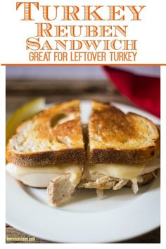 A perfect solution for leftover turkey sliced turkey or traditional corned beef! Takes minutes to assemble and ready in 15 minutes! Great lunch or dinner! Cold Sandwiches, Turkey Sandwiches, Delicious Sandwiches, Reuben Sandwich, Best Sandwich, Sandwich Recipes, Sandwich Ideas, Good Food, Yummy Food