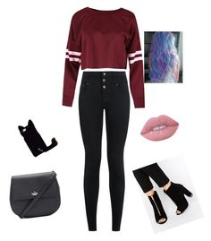 """""""Untitled #25"""" by anghel-sonia ❤ liked on Polyvore featuring New Look, Kate Spade and Lime Crime"""