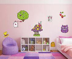 kcik1538 Full Color Wall decal set Alice in Wonderland characters heroes bedroom children's room