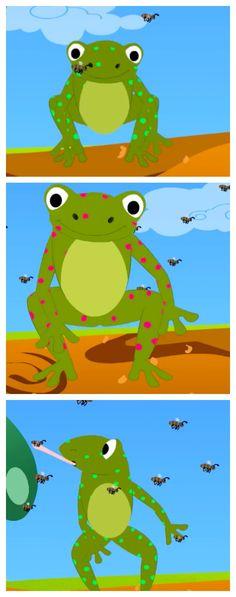 Five Speckled Frogs  - #TopNurseryRhymes