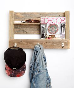 Look at this Barnwood Entry Wall Hook on #zulily today!