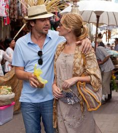 "Javier Bardem with Julia Roberts in ""Eat Pray Love"""