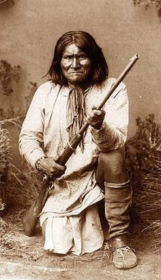 Geronimo one of the great leader of Native American resistance to U.S. colonization and genocide. — redantliberationarmy.wordpress.com