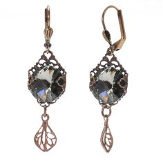 Tutorial - How to: Not Just Grandmas Black Diamond Colored Earrings Project | Beadaholique