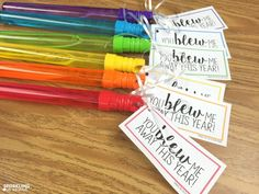You Blew Me Away gift tags for end of the year presents!  What a great gift idea! Giant Bubble Wands, Giant Bubbles, End Of Year, Student Gifts, Second Grade, Gift Tags, Card Tags, Gifts For Students, Gift Ideas