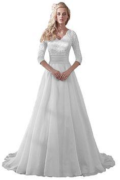 0397cb77adcb Gorgeous Wedding Dress, Floral Lace, Wedding Dress Organza, Modest Wedding  Dresses, Formal