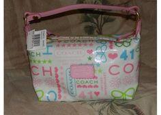 COACH AUTHENTIC NWT FS8815 laminated bandana print mini purse Free Ship NO Fee $55.00