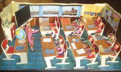 1967 miniature schoolroom