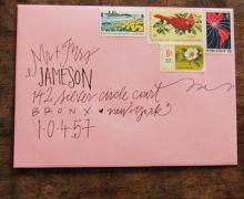 Creative way to address the envelopes.