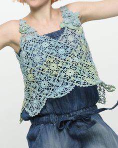 crochet motif top