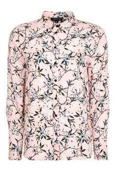 Oriental Print Casual Shirt - Topshop