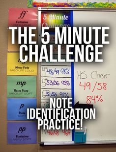 The 5 Minute Challenge. Read Miss W's Blog (click to link to it) for more information! #music #education #musiceducation