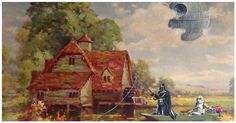 These Thrift Store Paintings Were Old And Forgotten, But After This Artist Gets To Them? WOW.