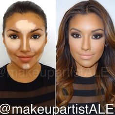 Really good contouring and highlighting