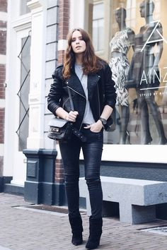 Style...Moderosa // WhatsTrend Blog » JEANS | OOTD // casual look // leather jacket + jeans