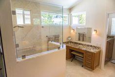 Master bath shower and vanity. Bath design & remodeling by Danilo Nesovic, Designer · Builder (dndb.info)