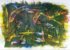 M0250, schilderij van Christian van Hedel | Abstract | Modern | Kunst