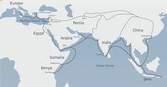 Silk Road. Map by Belsky, 2012 (Wikimedia)