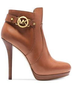 "MICHAEL Michael Kors Wyatt Platform Booties - Michael Kors Boots - Shoes - Macy's - in ""Luggage"" in black though ! Handbags Michael Kors, Michael Kors Heels, Lv Handbags, Heeled Boots, Bootie Boots, Shoe Boots, Shoes Heels, Ankle Boots, Girls Shoes"