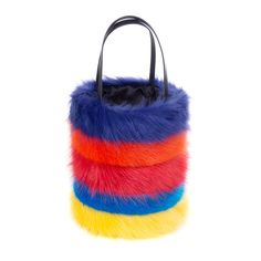01d3099df0 Rainbow Pride Faux Fur Honeypot Bag