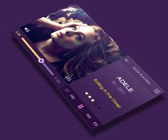 Flat Mobile Music Player by Yasser Achachi