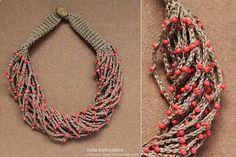 Collares hermosos en crochet en la web, diseños novedosos y coloridos que embellecen tu look.