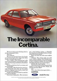 FORD CORTINA MK3 RETRO A3 POSTER PRINT FROM CLASSIC 70's ADVERT