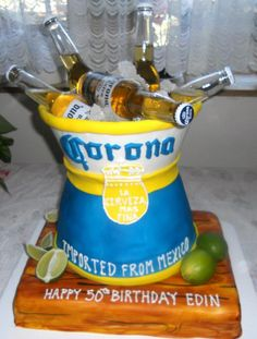 Beer Pail Birthday Cake My Cakes Pinterest Birthday Cakes - Corona birthday cake