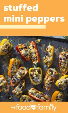 stuffed mini peppers for savory bites filled with flavor look no further th Healthy Living Recipes, Vegetable Recipes, Healthy Snacks, Mexican Food Recipes, Vegetarian Recipes, Cooking Recipes, Stuffed Mini Peppers, Recipe Ready, Vegetable Dishes
