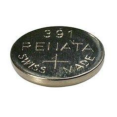 Renata Silver Oxide Watch Battery For Renata 391 Button Cell $0.79