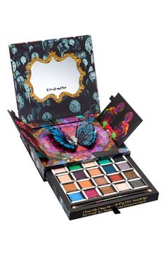 """Love this limited-edition Urban Decay """"Alice Through the Looking Glass"""" eyeshadow palette. The most vivid colors in 20 new shades that correspond to the characters in the movie. Urban Decay even included a double-ended brush for the perfect application."""
