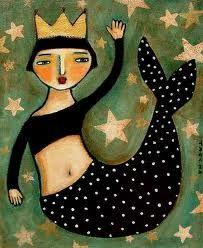 ♥ Folk art de mermaid