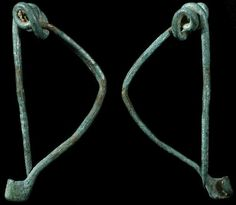 "Ancient Greece, c. 4th - 2nd century BC. Nice bronze fibula. Simple design with body, spring and pin all one long piece of metal. Ingenious... truly the first safety-pin! 50 mm (2"") long,"