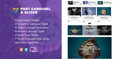 Jellywp post carousel slider Visual Composer Addons . Jellywp post carousel slider Visual Composer Addons is a Premium WordPress plugin that clean design and fully responsive layout. This plugin is useful with many carousel style, slider style, and