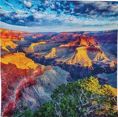 Grand Canyon Large Scenic Sunset Tapestry. Our high-resolution photo printed tapestries quickly sweep you away to your favorite far-flung destinations. Awe-inspiring and oversized, these tapestries gi