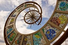 This 24-foot tall abstract sculpture was created for the PACE center dedication, Parker, CO, in 2012.