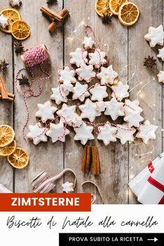 I biscotti di Natale alla cannella, Zimtsterne, sono biscotti della tradizione natalizia tedesca, senza glutine a base di mandorle e spezie che ricordano i nostri amaretti. Una superficie croccante realizzata con una glassa di albume e zucchero prima della cottura e un cuore morbido rendono questi biscotti davvero irresistibili. Provali subito! // Recipe also in English on OPSD blog: Zimtsterne, German cinnamon stars cookies are a gluten free cookies made with almonds and spices. Chocolate Marshmallow Cookies, Chocolate Chip Shortbread Cookies, Toffee Cookies, Spice Cookies, Yummy Cookies, Christmas Mood, Noel Christmas, Christmas Desserts, Christmas Baking