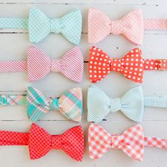 The Beau men's coral/peach/mint collection by thebelleandthebeau, $35.00