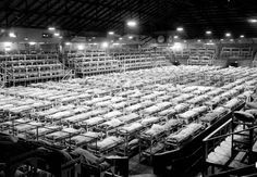 Pacific National Exhibition Forum transformed into dormitory for interned Japanese/Canadian men