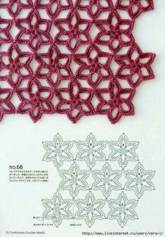 stricken und häkeln Book: Continuous Crochet Motifs 2016 (seamless crochet motifs) - Knit nets, knitting needles and crochet hook - CREATIVITY OF HAND. Crochet Motifs, Crochet Diagram, Crochet Stitches Patterns, Crochet Chart, Crochet Squares, Diy Crochet, Knitting Stitches, Stitch Patterns, Knitting Patterns