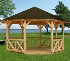 Gazebo kit Joanna on sale on BZB Cabins. All of our gazebo kits are designed for do-it-yourself assembly that can typically be completed in a day or two. Diy Pergola, Backyard Gazebo, Pergola Swing, Metal Pergola, Wooden Pergola, Backyard Pergola, Pergola Shade, Cheap Pergola, Wooden Benches