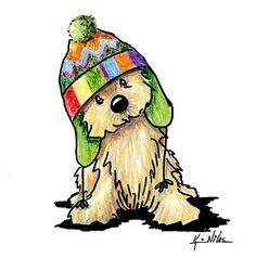 Cairn Terrier dog breed art by Contemporary PUP Artist, Kim Niles (aka KiniArt). © Kim Niles, KiniArt™ - All Rights Reserved. Terrier Dog Breeds, Cairn Terriers, Dog Costumes, Girl And Dog, Christmas Dog, Dog Accessories, Dog Design, Dog Art, Animal Drawings