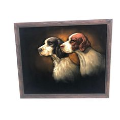 Vintage HUNTING DOGS VELVET Painting mid century modern black framed wall art mexican realism hanging framed hound weird odd funny by SaveAmericanHistory Black Framed Wall Art, Velvet Painting, Hunting Dogs, Painting Frames, Black Velvet, Wood Art, American History, Vintage Black, Mid-century Modern