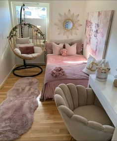 Bedroom Decor For Small Rooms, Room Design Bedroom, Girl Bedroom Designs, Room Ideas Bedroom, Home Room Design, Bedroom Modern, Bedroom Wall, Master Bedroom, Cute Home Decor