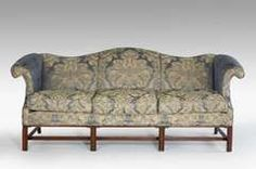 Chippendale Design Camel Back Sofa