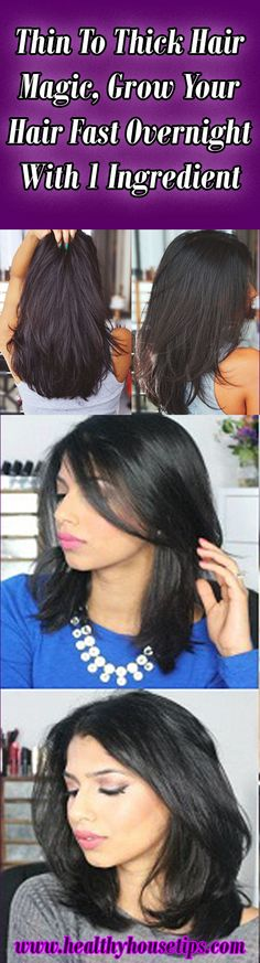 Thin To Thick Hair Magic, Grow Your Hair Fast Overnight With 1 Ingredient