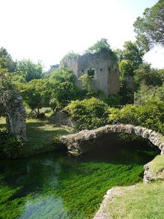Giardini di Ninfa - ruined medieval city surrounded by lush gardens. I like that someone made something beautiful out of a ruin.